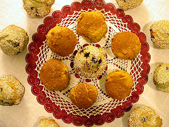 Blueberry Muffins & Carrot Raisin Muffins